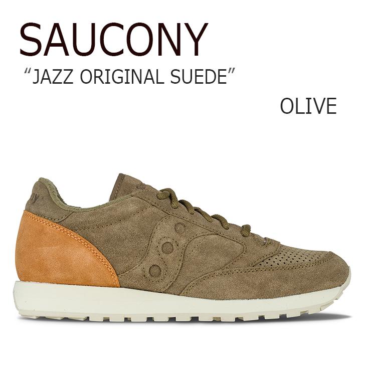 サッカニー スニーカー Saucony メンズ JAZZ ORIGINAL SUEDE ジャズ オリジナル スエード OLIVE オリーブ S70246-6 シューズ