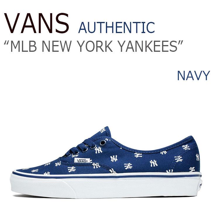バンズ スニーカー VANS メンズ AUTHENTIC オーセンティック BLM NEWYORK YANKEES ニューヨーク ヤンキース NAVY ネイビー VN0A2Z5IKU3 シューズ
