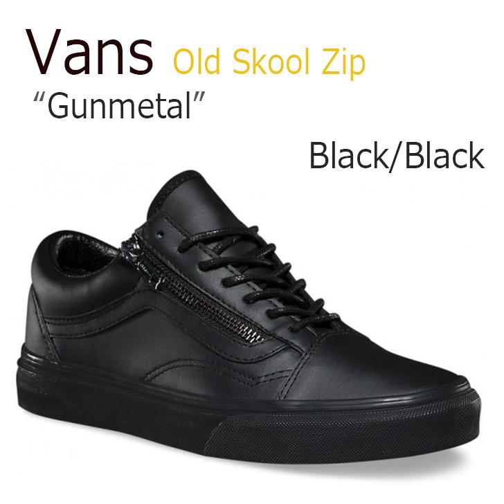 Vans Old Skool Zip/Gunmetal/Black/Black【バンズ】【オールドスクール】【VN00018GJTL1】 シューズ