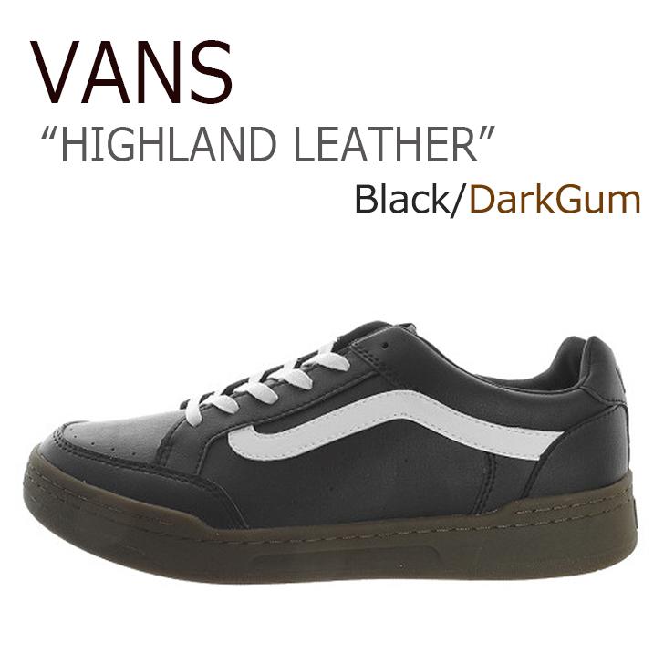 VANS HIGHLAND LEATHER/Black/Dark Gum【バンズ】【ハイランド】【VN0A38FDNUX】 シューズ