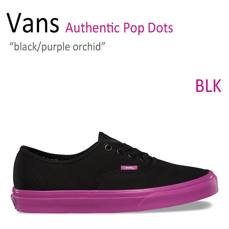 Vans Authentic/Pop Dots/Black/Purple Orchid【バンズ】【オーセンティック】【VN0A348AM1Y1】 シューズ