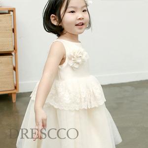 ディオネアイボリーレースドレス(70~140)子供ドレス キッズドレス ベビードレス 結婚式 発表会 コンクール