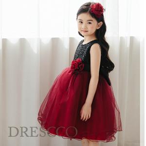 ブラックアンドレッドドレス(70~130)