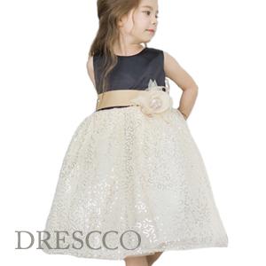 ゴールドスパンコールレースドレス