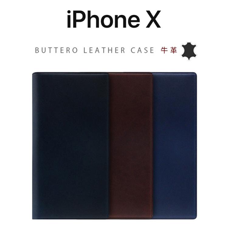 iPhoneX ケース SLG Design Buttero Leather Case 手帳型 本革 エスエルジー ブッテーロレザーダイアリー アイフォンX カバー レザー お取り寄せ