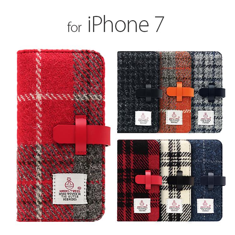 お取り寄せ iPhone8 iPhone7 ケース 手帳型 SLG Design Harris Tweed Diary エスエルジーデザイン ハリスツイードダイアリー アイフォン 本革 カバー