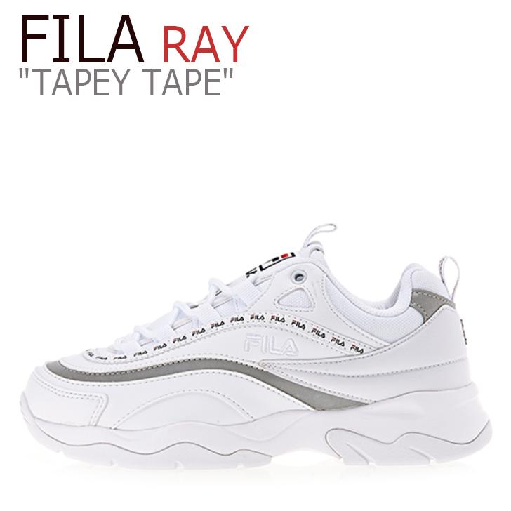 フィラ レイ スニーカー FILA メンズ レディース RAY TAPEY TAPE レイ テーピー テープ WHITE ホワイト FS1SIA3100X シューズ