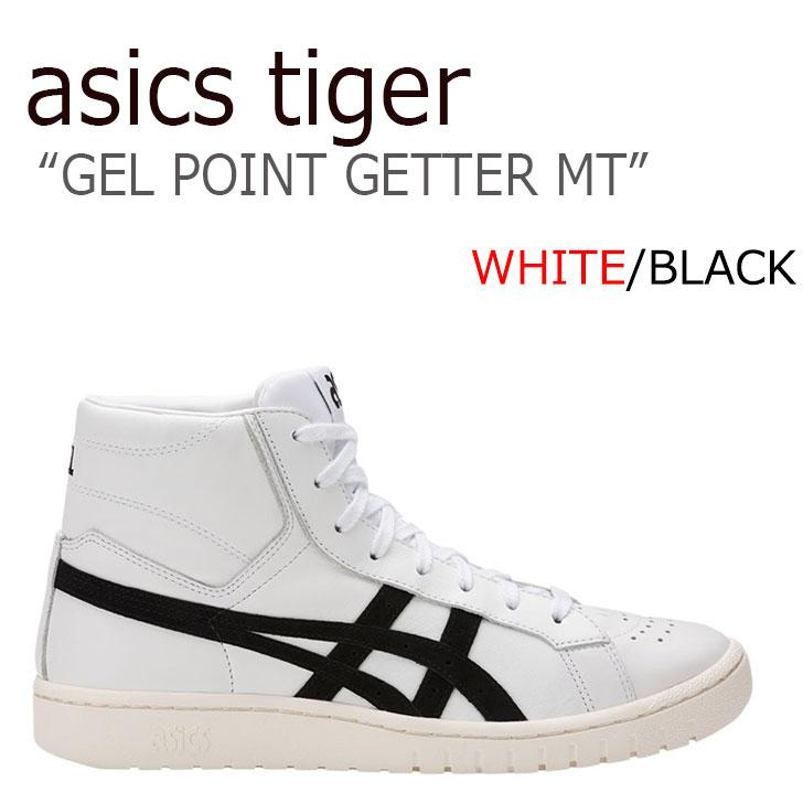 アシックス スニーカー asics メンズ レディース アシックスタイガー ゲル ポイントゲッターMT ASICS TIGER GEL-PTG MT WHITE ホワイト BLACK ブラック HL7W4-0190 シューズ