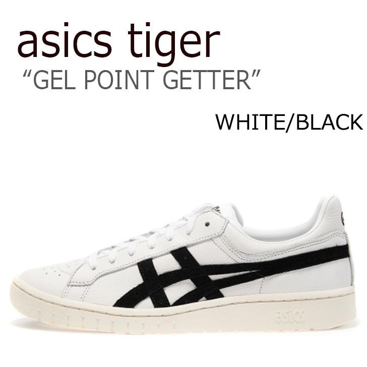 アシックス スニーカー asics メンズ レディース アシックスタイガー ゲル ポイントゲッター ASICS TIGER GEL-PTG WHITE ホワイト BLACK ブラック HL7X0-0190 シューズ