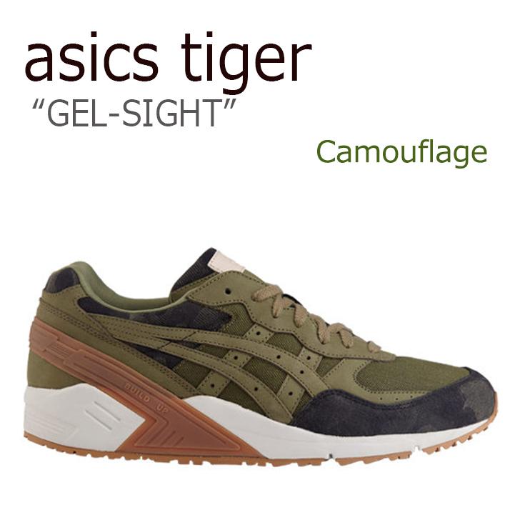 アシックスタイガー スニーカー asics tiger メンズ レディース GEL-SIGHT ゲルサイト Camouflage カモフラージュ カーキ H7A4N-0808 シューズ