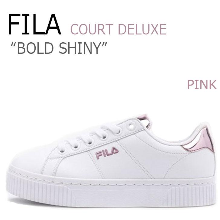 フィラ スニーカー FILA レディース コートデラックス ボールド シャイニー COURT DELUXE BOLD SHINY PINK ピンク FS1SIZ3100F FS1SIA1200X シューズ