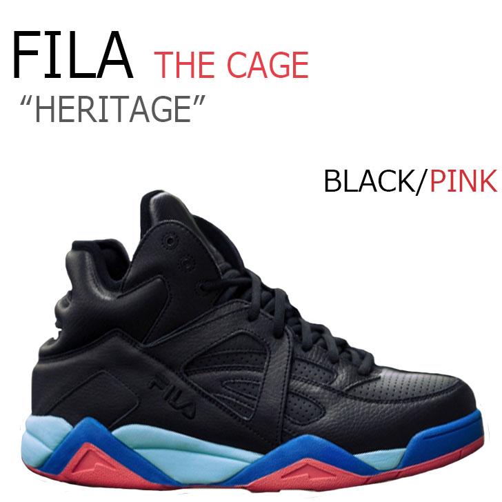 フィラ スニーカー FILA メンズ レディース THE CAGE ザ ケージ HERITAGE ヘリテージ BLACK ブラック PINK ピンク F1XKY5943 シューズ