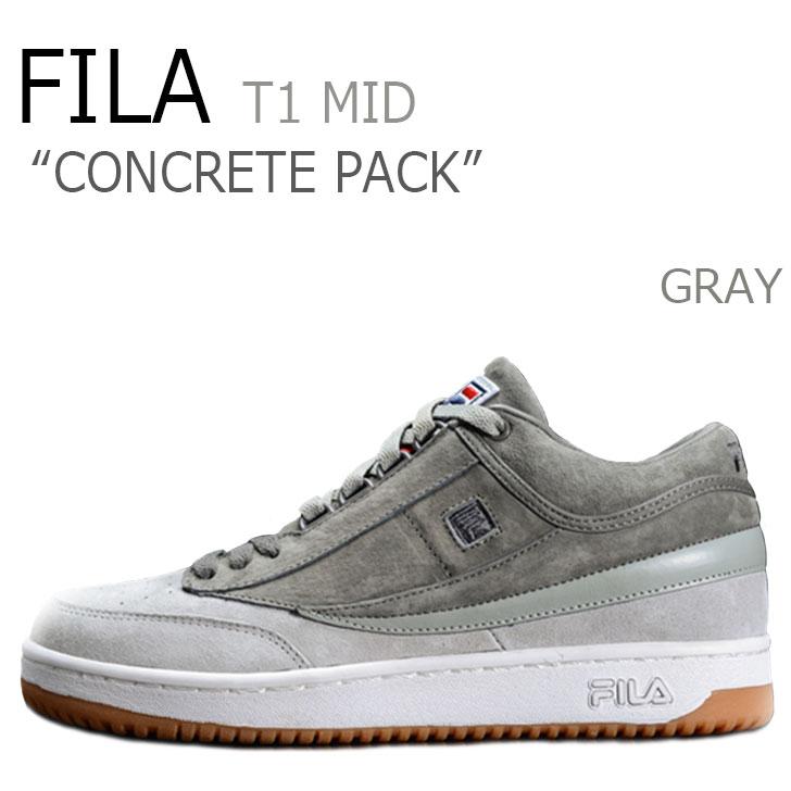 フィラ スニーカー FILA メンズ CONCRETE PACK コンクリートパック T-1 MID GRAY グレー F1XKZ5971 シューズ