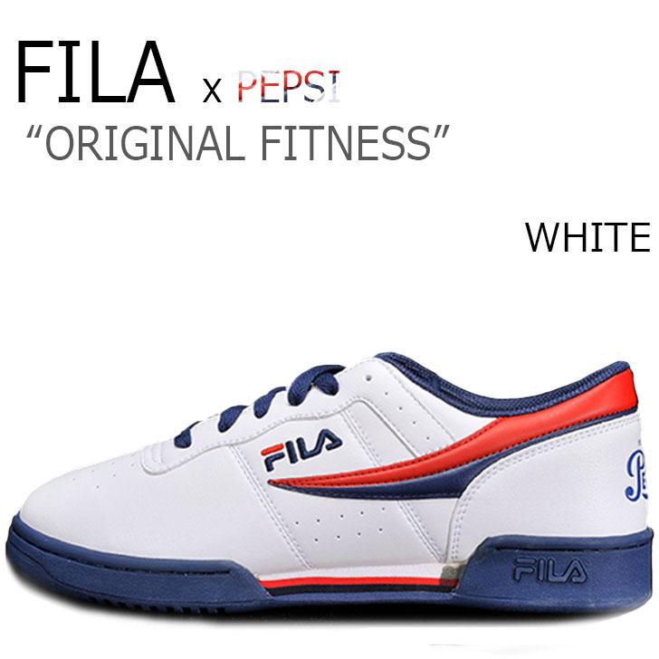 フィラ スニーカー FILA メンズ PEPSI ペプシ ORIGINAL FITNESS WHITE ホワイト F1XKZ5801 シューズ