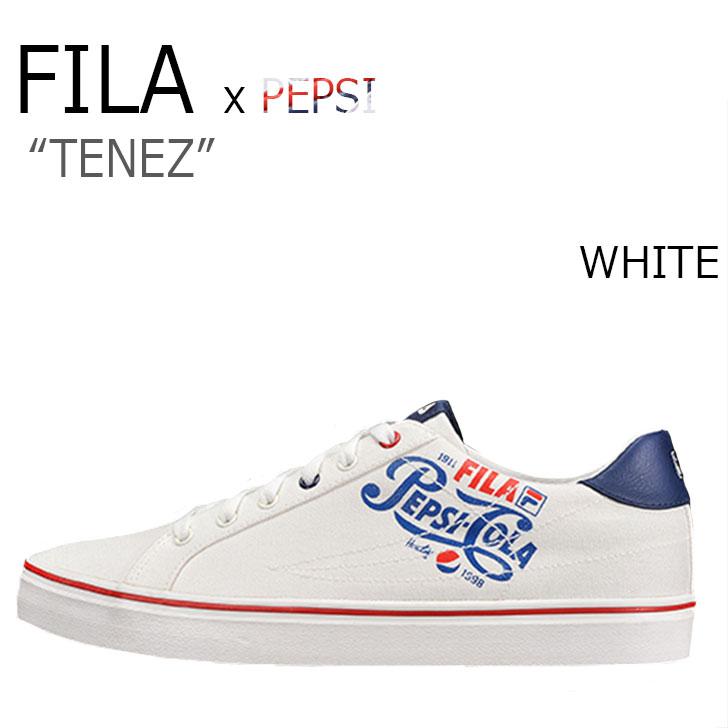 フィラ スニーカー FILA メンズ レディース PEPSI ペプシ TENEZ WHITE ホワイト F1XKZ5811 シューズ