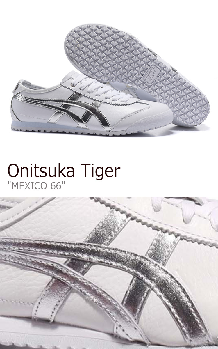 cheap for discount a501f 08fdb Onitsuka tiger sneakers Onitsuka Tiger men gap Dis MEXICO 66 Mexico 66  White Silver white silver D508K-0193 shoes