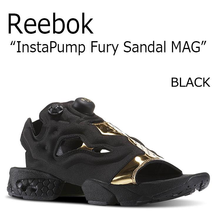 リーボック サンダル Reebok メンズ レディース INSTA PUMP FURY SANDAL MAG インスタ ポンプ フューリー サンダル マグ BLACK ブラック BD3184 シューズ