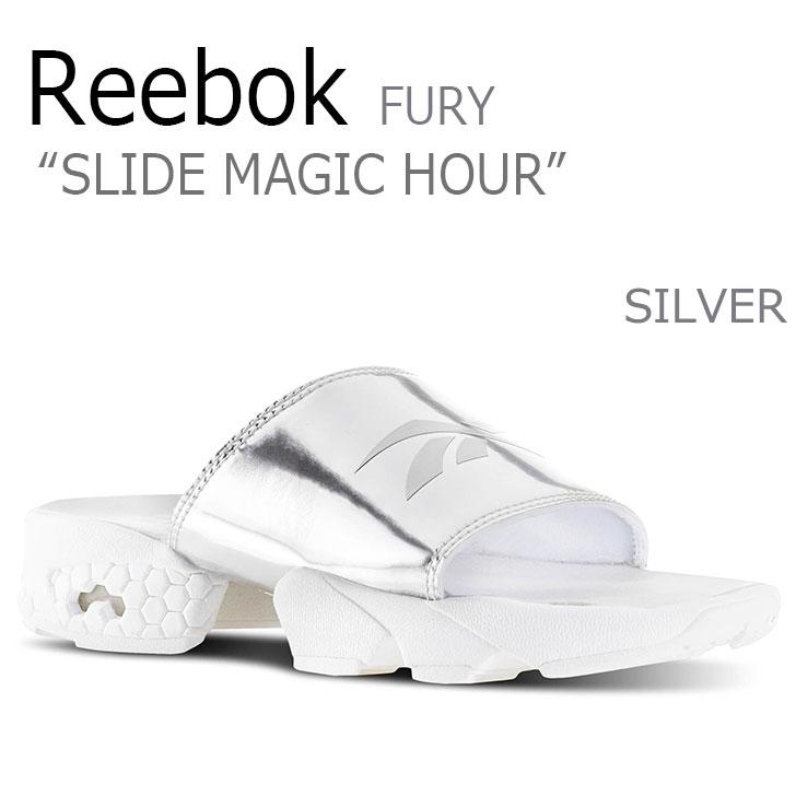 リーボック サンダル REEBOK メンズ レディース フューリー FURY スリッパ スライド マジック アワー SLIDE MAGIC HOUR SILVER シルバー BD3190 シューズ