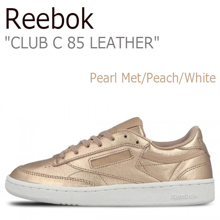 リーボック スニーカー Reebok メンズ レディース CLUB C 85 LEATHER クラブ シー 85 レザー チャンピョン Pearl Met Peach White ペールメット ピーチ BS7899 シューズ