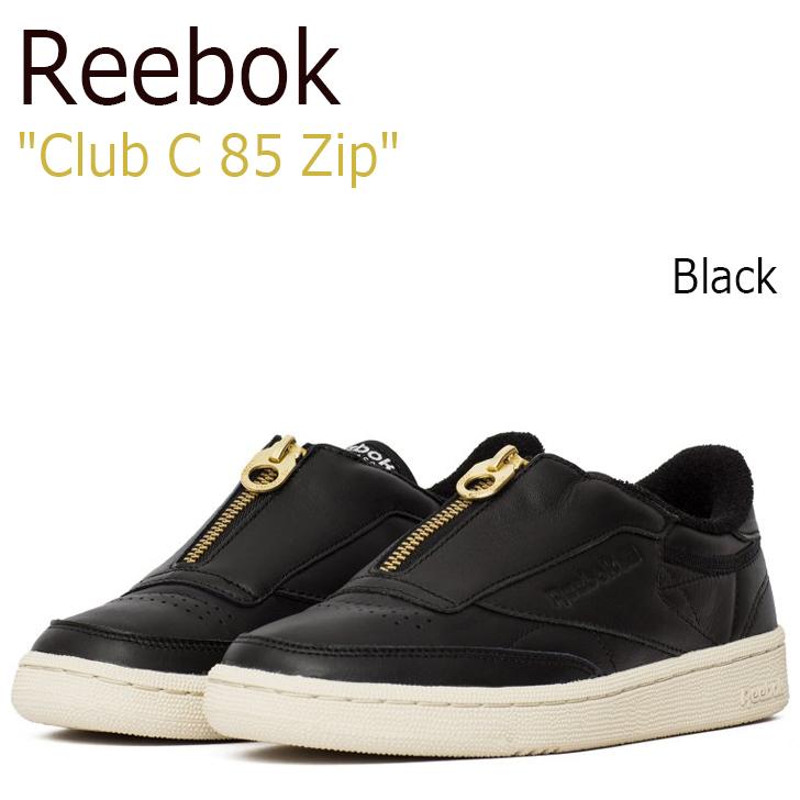 リーボック スニーカー Reebok メンズ レディース Club C 85 Zip クラブ チャンピョン 85 ジップ Black ブラック BS6608 シューズ