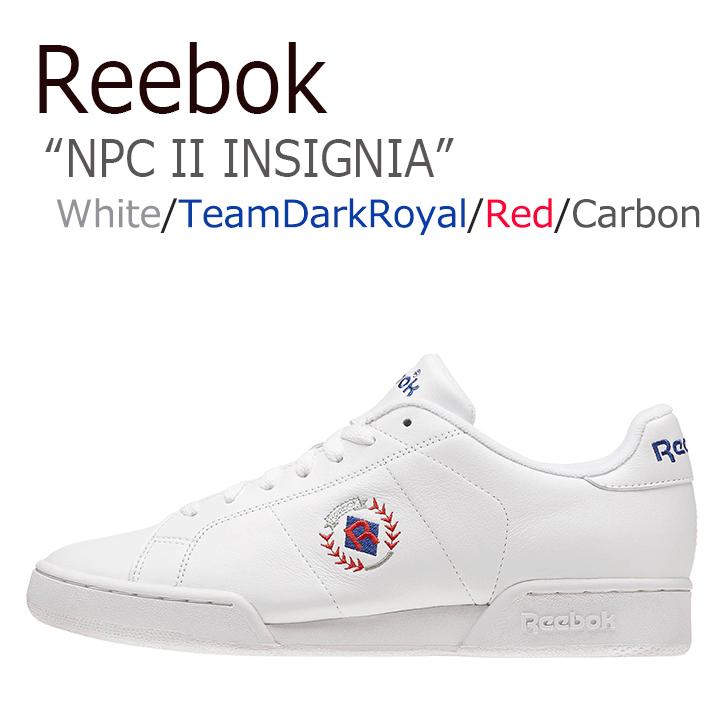 リーボック スニーカー Reebok メンズ レディース NPC 2 INSIGNIA インシグニア White Blue ホワイト ブルー BD3246 シューズ