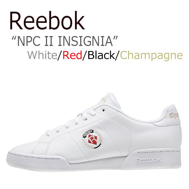 リーボック スニーカー Reebok メンズ レディース NPC 2 INSIGNIA インシグニア White Red ホワイト レッド BD3245 シューズ