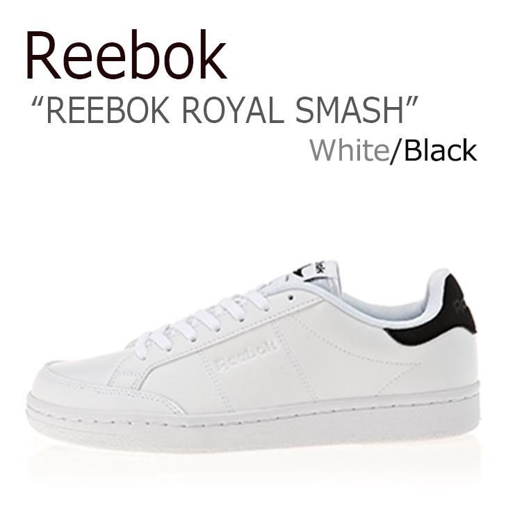 リーボック スニーカー Reebok メンズ レディース ROYAL SMASH ロイヤルスマッシュ White Black ホワイト ブラック CN0610 シューズ