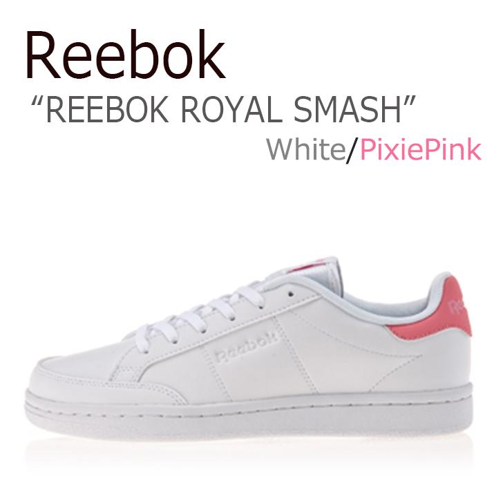 リーボック スニーカー Reebok メンズ レディース ROYAL SMASH ロイヤルスマッシュ White Pink ホワイト ピンク CN0190 シューズ