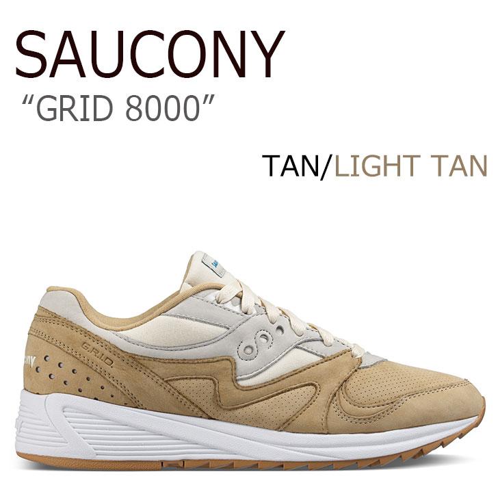 サッカニー スニーカー Saucony メンズ GRID 8000 グリッド8000 TAN タン S70303-4 シューズ