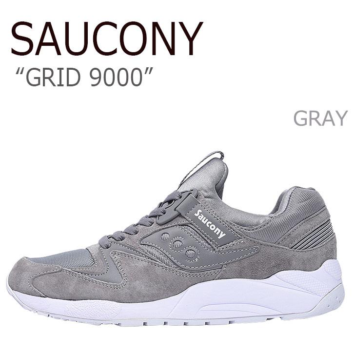 サッカニー スニーカー Saucony メンズ GRID 9000 グリッド9000 GRAY グレー S70382-3 シューズ