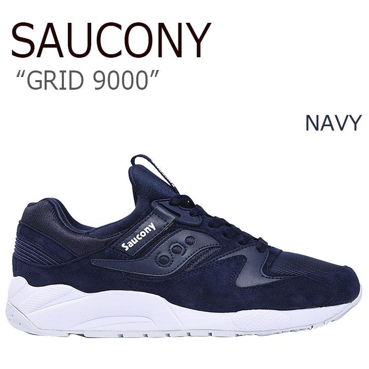 サッカニー スニーカー Saucony メンズ GRID 9000 グリッド9000 NAVY ネイビー S70382-1 シューズ