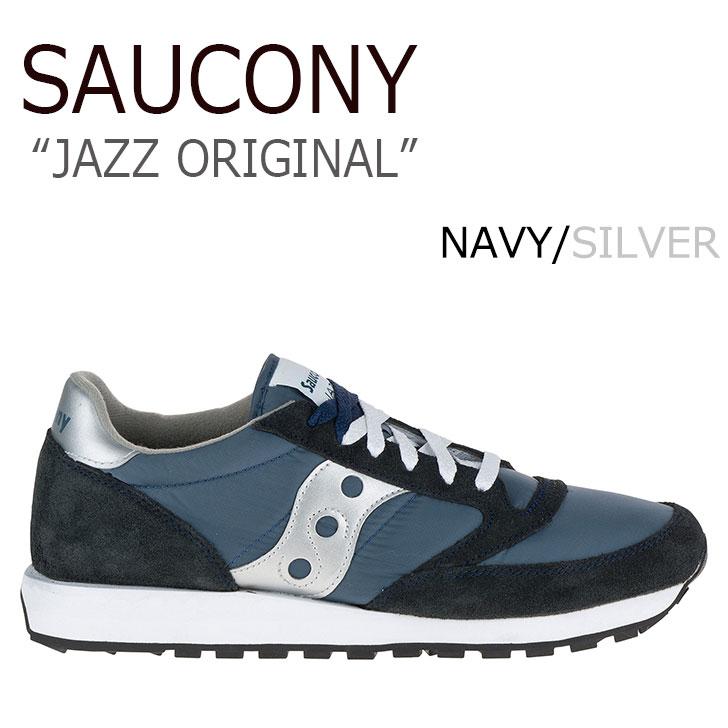 サッカニー スニーカー Saucony メンズ レディース JAZZ ORIGINAL ジャズ オリジナル NAVY ネイビー 2044-2 シューズ