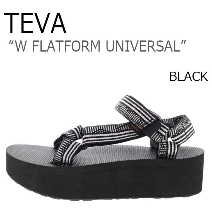 テバ サンダル TEVA レディース W FLATFORM UNIVERSAL フラットフォーム ユニバーサル 厚底 CBWH BLACK ブラック 1008844-CBWH シューズ