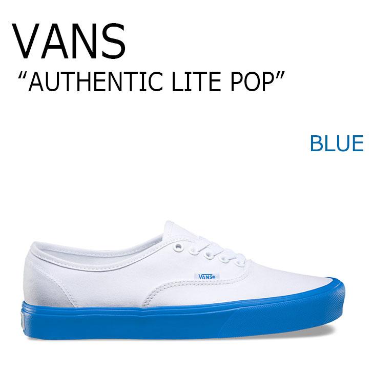 バンズ スニーカー VANS メンズ レディース AUTHENTIC LITE POP オーセンティック ライト ポップ BLUE ブルー VN0A2Z5JN5V シューズ