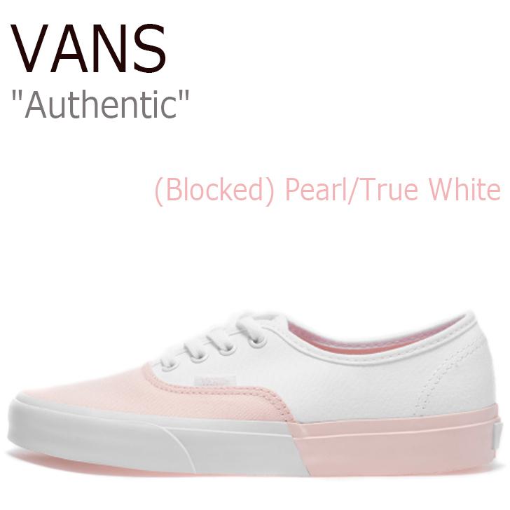 バンズ オーセンティック スニーカー VANS レディース Authentic (Blocked) Pearl True White ブロックド パール ホワイト VN0A38EMOC41 シューズ