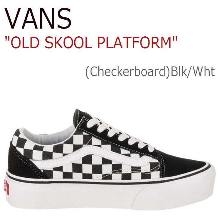 バンズ オールドスクール VANS レディース OLDSKOOL PLATFORM プラットフォーム (Checkerboard)Black White チェッカーボード 厚底 VN0A3B3UHRK シューズ