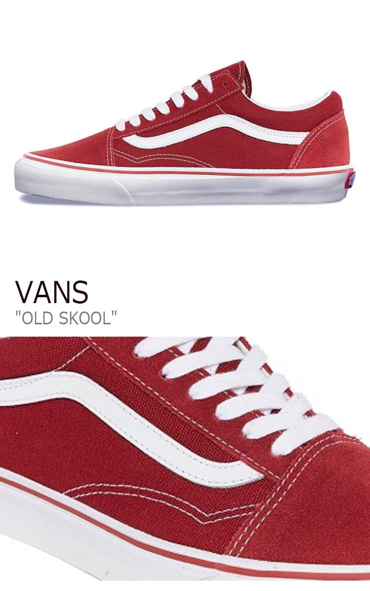 赤 バンズ VN000VOKDIC OLD SKOOL RED メンズ レッド スニーカー シューズ VANS オールドスクール レディース 送料無料