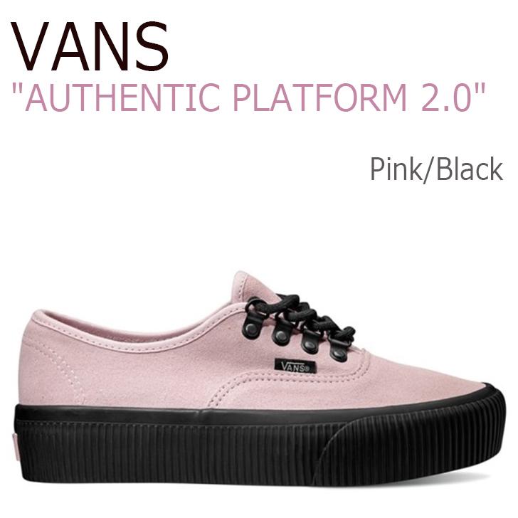 バンズ オーセンティック スニーカー VANS レディース AUTHENTIC PLATFORM 2.0 プラットフォーム2.0 (EMBOSS)Pink エンボスピンク 厚底 VN0A3AV8QB1 シューズ