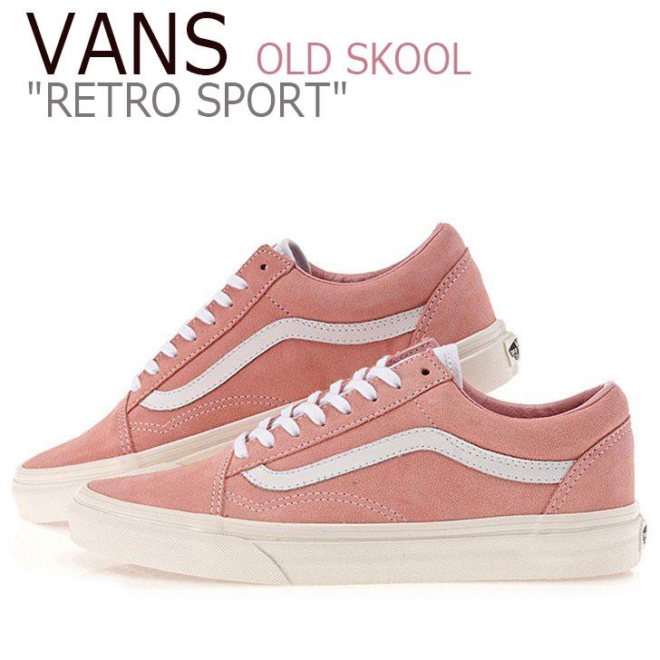 Pink Vans Old Skool Retro Sport