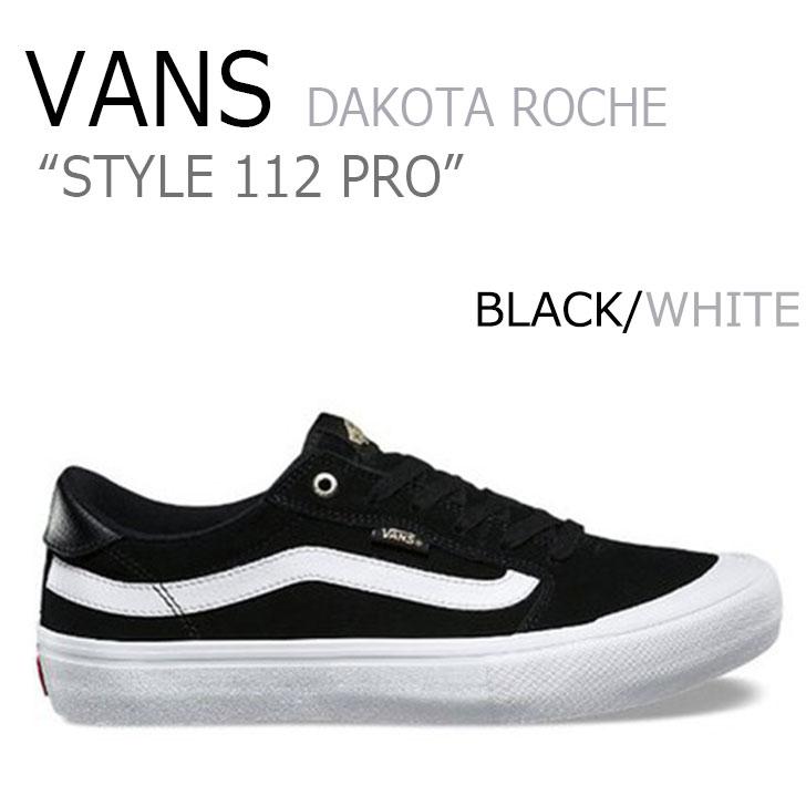 バンズ スニーカー VANS メンズ スタイル 112 プロ STYLE 112 PRO ダコタローチェ DAKOTA ROCHE BLACK ブラック WHITE ホワイト VN0A347XB8C シューズ