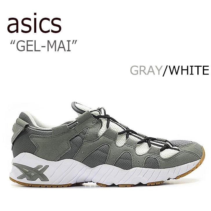 アシックスタイガー スニーカー asics tiger メンズ レディース GEL-MAI ゲルマイ GRAY グレー WHITE ホワイト HN719-9797 シューズ