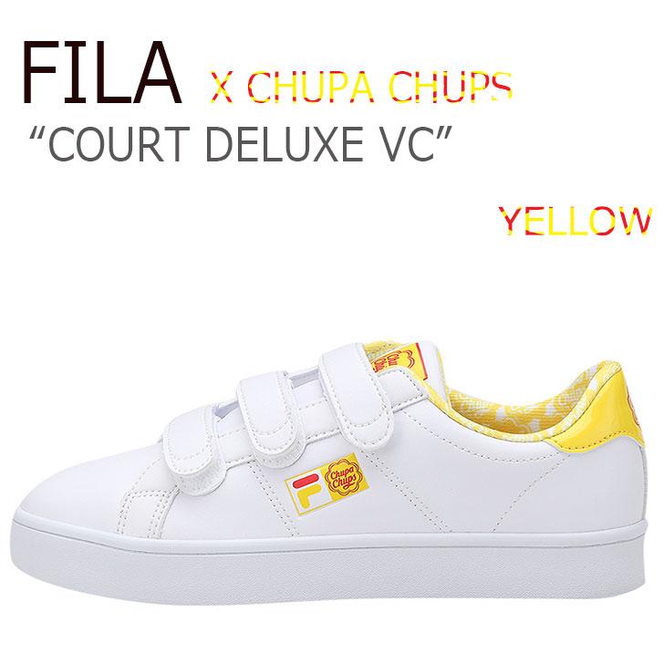 フィラ スニーカー FILA レディース COURT DELUXE VC X CHUPA CHUPS コート デラックス チュッパチャップス YELLOW イエロー FS1SIA1251X シューズ