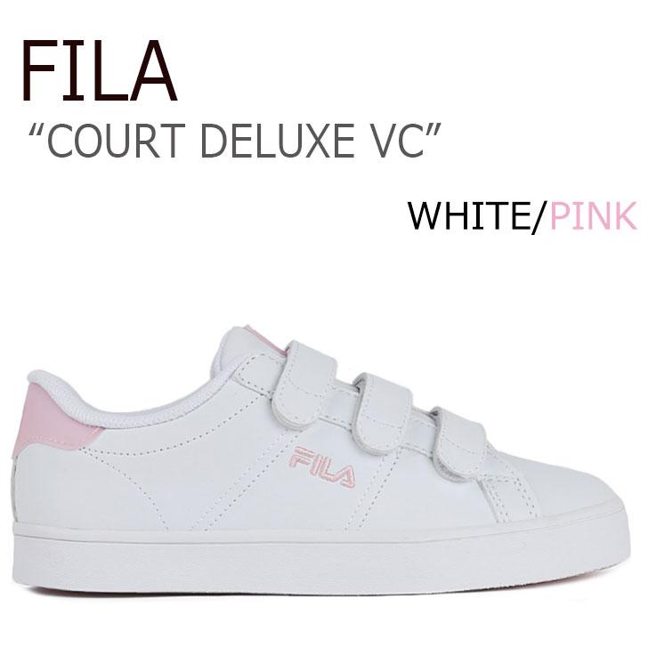 フィラ スニーカー FILA レディース COURT DELUXE VC コートデラックス WHITE PINK ホワイト ピンク FS1SIA1071X シューズ