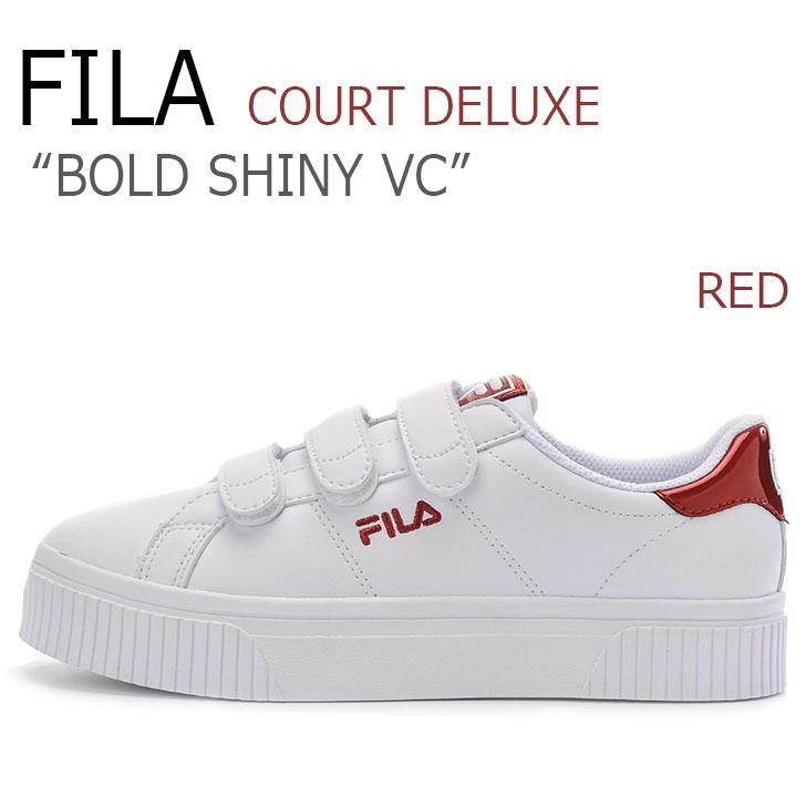 フィラ スニーカー FILA レディース コートデラックス ボールド シャイニー ベルクロ COURT DELUXE BOLD SHINY VC RED レッド FS1SIA1202X シューズ