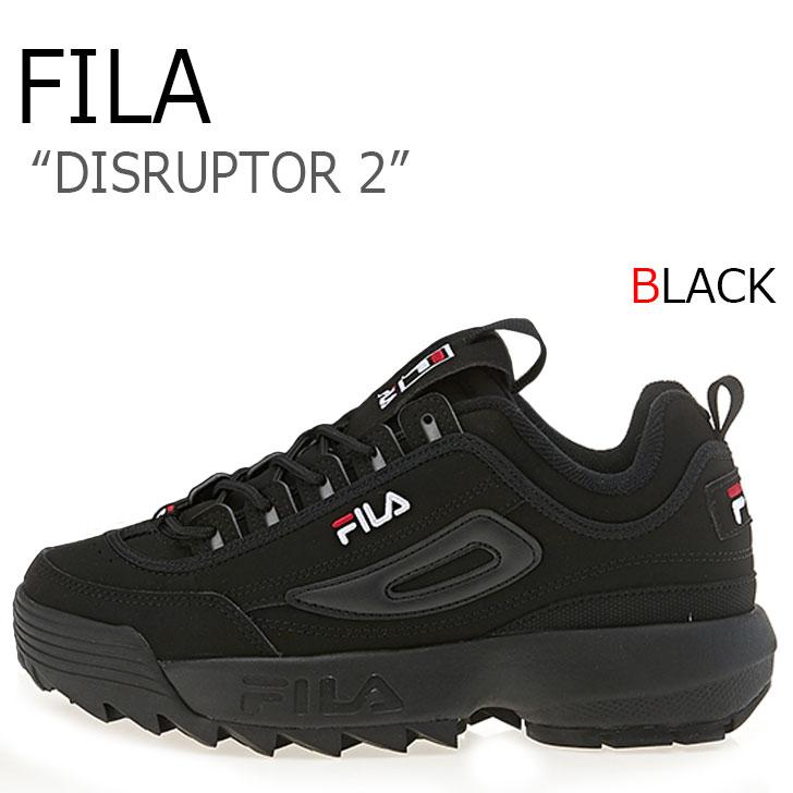 フィラ ディスラプター スニーカー FILA メンズ レディース DISRUPTOR 2 ディスラプター2 BLACK ブラック FS1HTA1078X FS1HTB1078X シューズ