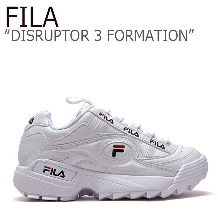 フィラ ディスラプター スニーカー FILA メンズ レディース DISRUPTOR 3 FORMATION ディスラプター3 フォ―メーション WHITE ホワイト FS1HTA3811X FLFL8F4U07 FS1HTB1831X シューズ