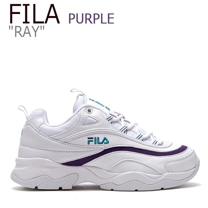 フィラ レイ スニーカー FILA レディース RAY レイ WHITE PURPLE ホワイト パープル FLFL8F4U55 シューズ