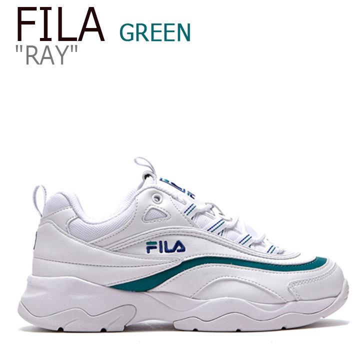 フィラ レイ スニーカー FILA メンズ レディース RAY レイ WHITE GREEN ホワイト グリーン FLFL8F4U56 FS1SIA3251X シューズ