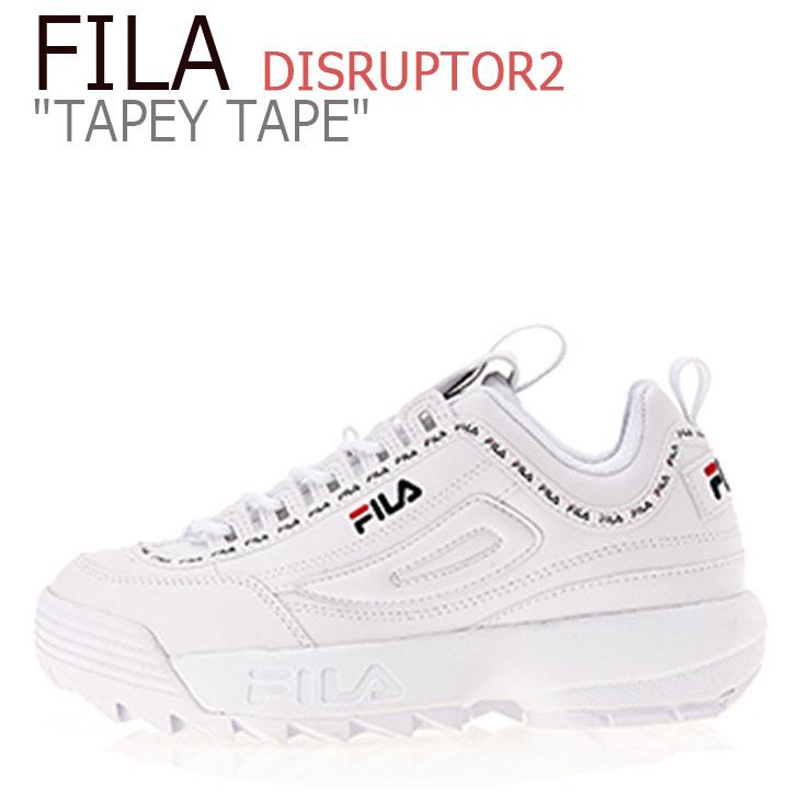 フィラ ディスラプター スニーカー FILA メンズ レディース DISRUPTOR 2 TAPEY TAPE テーピー テープ WHITE ホワイト FS1HTB1091X FS1HTA3091X FLFL8F3U06 シューズ