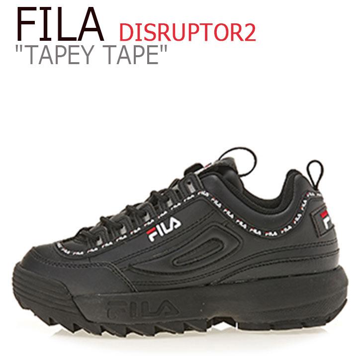 フィラ ディスラプター スニーカー FILA メンズ レディース DISRUPTOR 2 TAPEY TAPE テーピー テープ BLACK ブラック FS1HTA3092X FS1HTB1092X シューズ